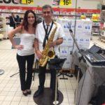 animation foire aux vins Auchan St Priest